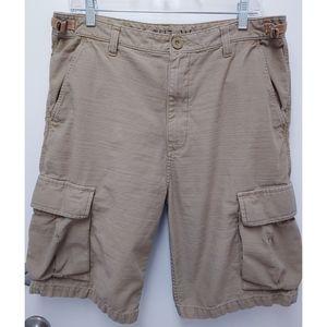 Vans Men's Beige Cargo Shorts SZ 32
